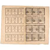 Colonial Currency PA April 10, 1777 24 Note Sheet
