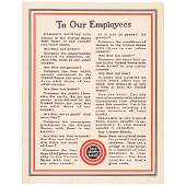 WW I To our Employees... Buy Liberty Bonds Poster