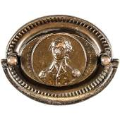 c 1820 George Washington Brass TWO Drawer Pulls