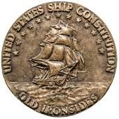 USS CONSTITUTION Brass Plaque, 1927 Restoration
