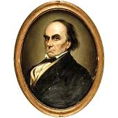 c 1840 DANIEL WEBSTER Portrait Painted From Life