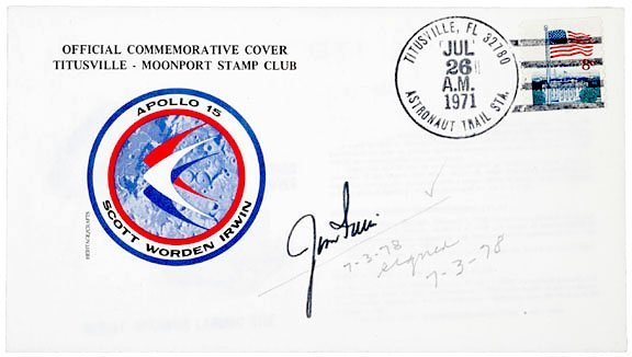 3002: ASTRONAUT JIM IRWIN Signed Cover