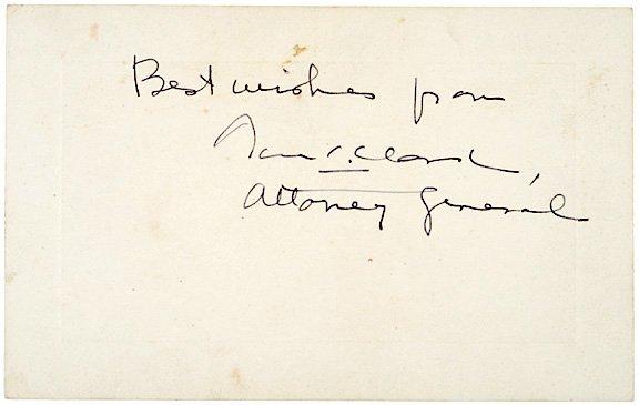 3015: THOMAS C. CLARK Signed Card