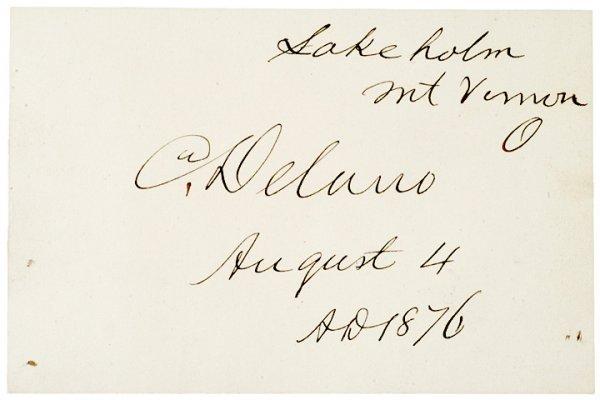 3023: COLUMBUS DELANO, Signature US Grants Secretary