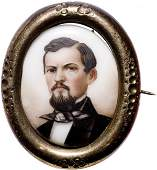 3127: c. 1865 Gilt Locket, Confederate Gen. Hardee