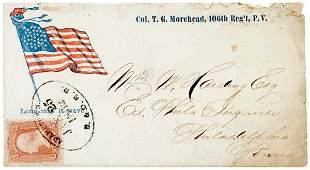3143: Civil War Regimental Cover: Circular Star Flag