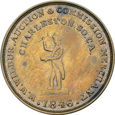 3197: 1846 Slave Auctioneer Token Mint State-60