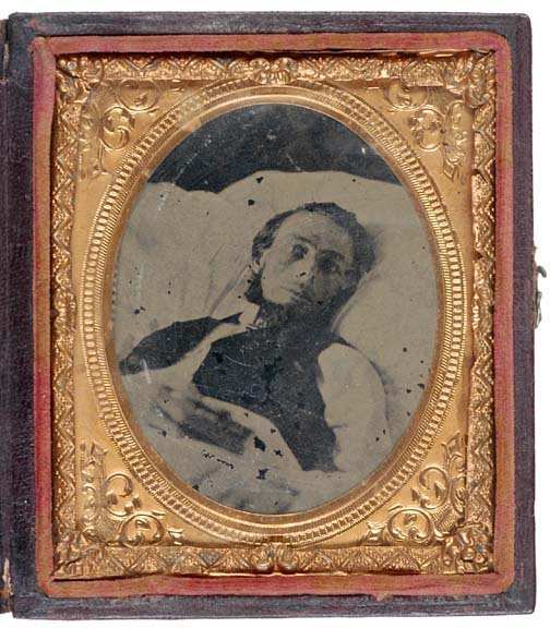 4007: Post-Mortem Tintype of Young Man