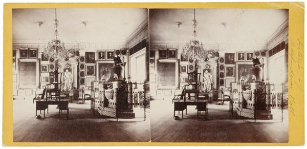 4009: c. 1890, Stereo Photo Card, Independence Hall
