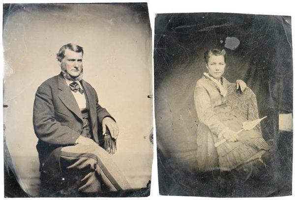 4012: c. 1870 Studio Tintype Portraits