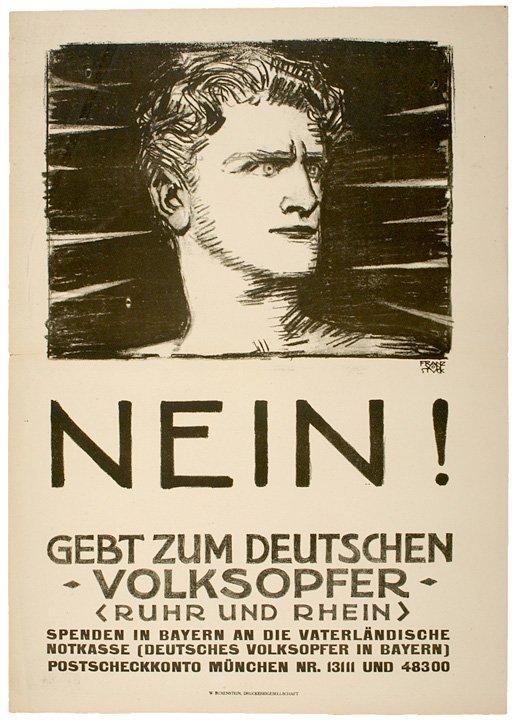 4014: WW I Poster: Aid for Ruhr & Rhein Victims