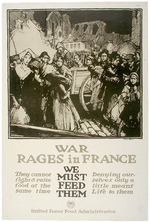 4016: WW I Poster: War Rages in France by Townsend