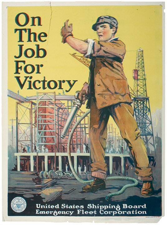 4018: World War I Poster On The Job For Victory