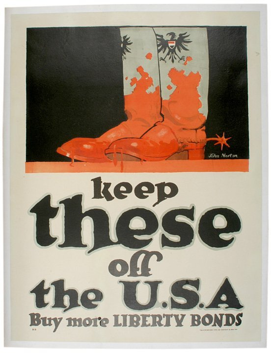 4019: 1918 Liberty Bond Poster Keep These off the USA