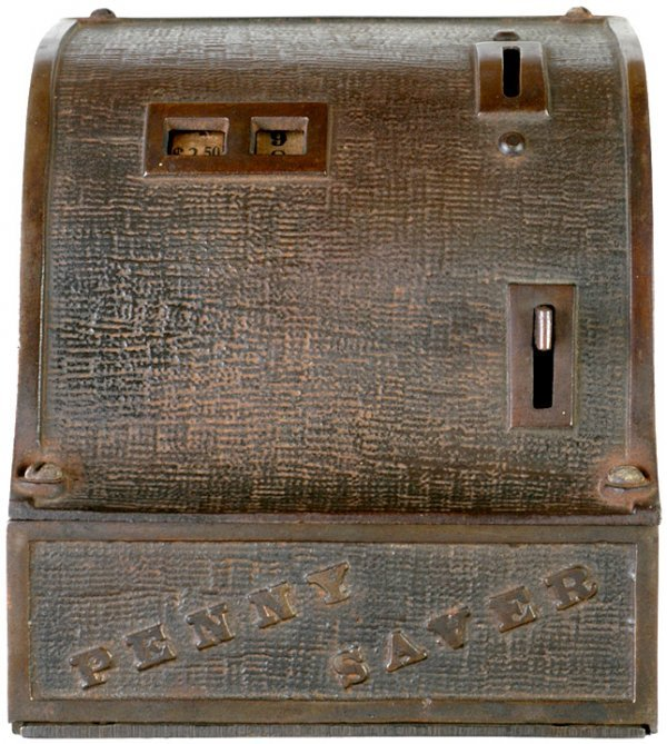 4095: Cash Register Penny Saver Mechanical Bank