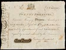 8 PEYTON RANDOLPH  JOHN BLAIR Signed Note