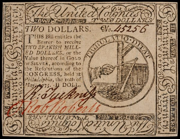 14: Colonial Currency, May 10, 1775, $2