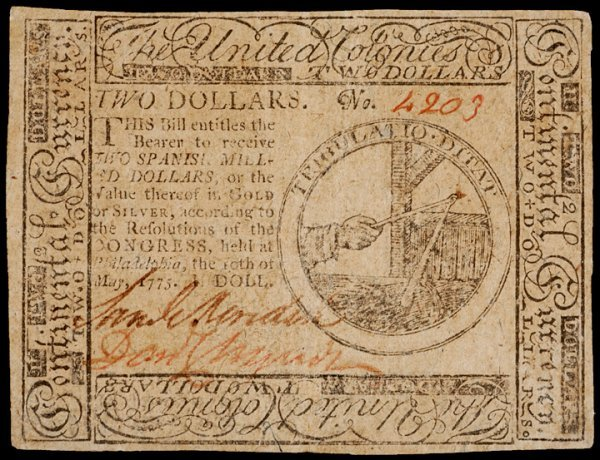 15: Colonial Currency, May 10, 1775, $2