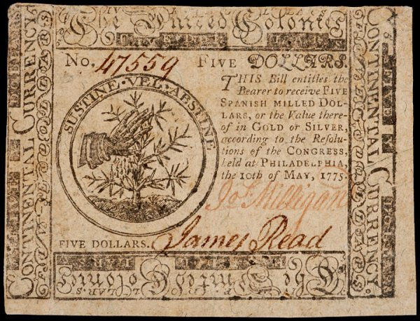 18: Colonial Currency, May 10, 1775, $5