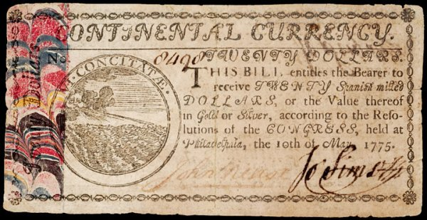 24: Colonial Currency, May 10, 1775, $20