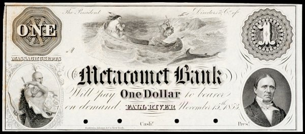403: Obsolete Currency, Fall River, MA, $1, Proof