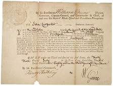 2083: 1780 RI Military Commission Signed Gov. Greene