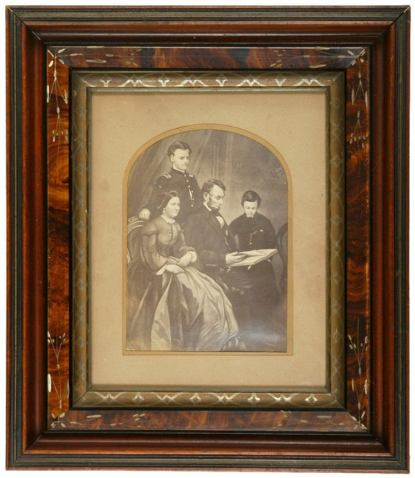 2442: ABRAHAM LINCOLN + Family Engraving
