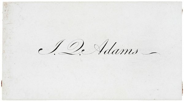 5001: JOHN QUINCY ADAMS Calling Card