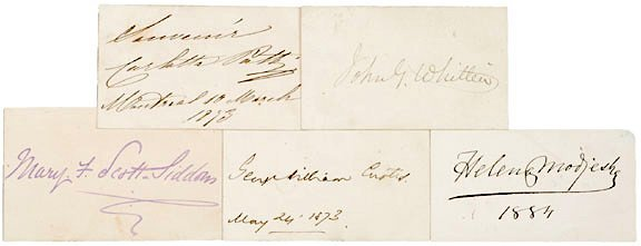 5006: AUTOGRAPH ALBUM: Five 19th Century Authors