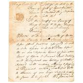 1770 STEPHEN HOPKINS Signed Counterfeiting Warrant