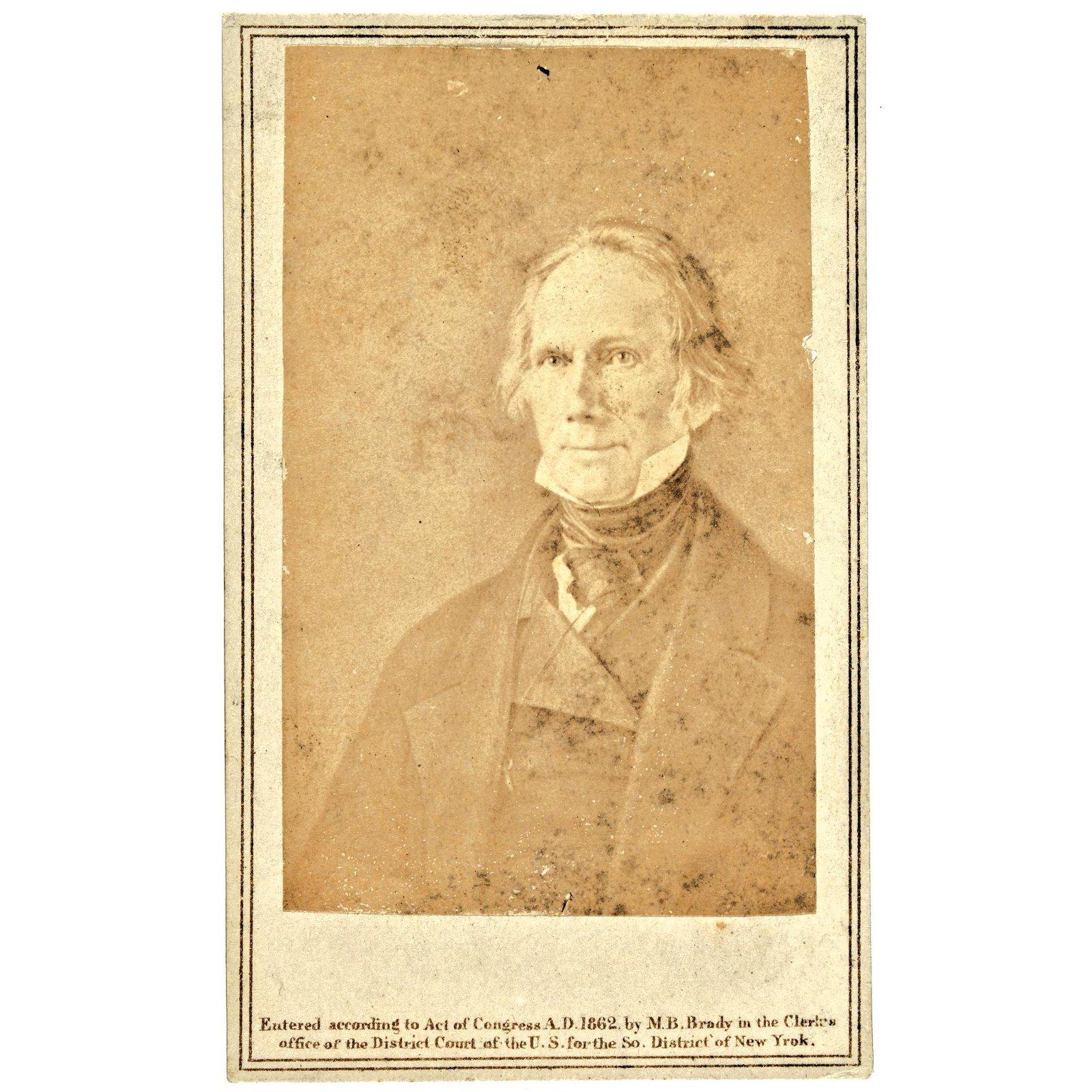 1862 CDV Photograph: Henry Clay by Mathew Brady