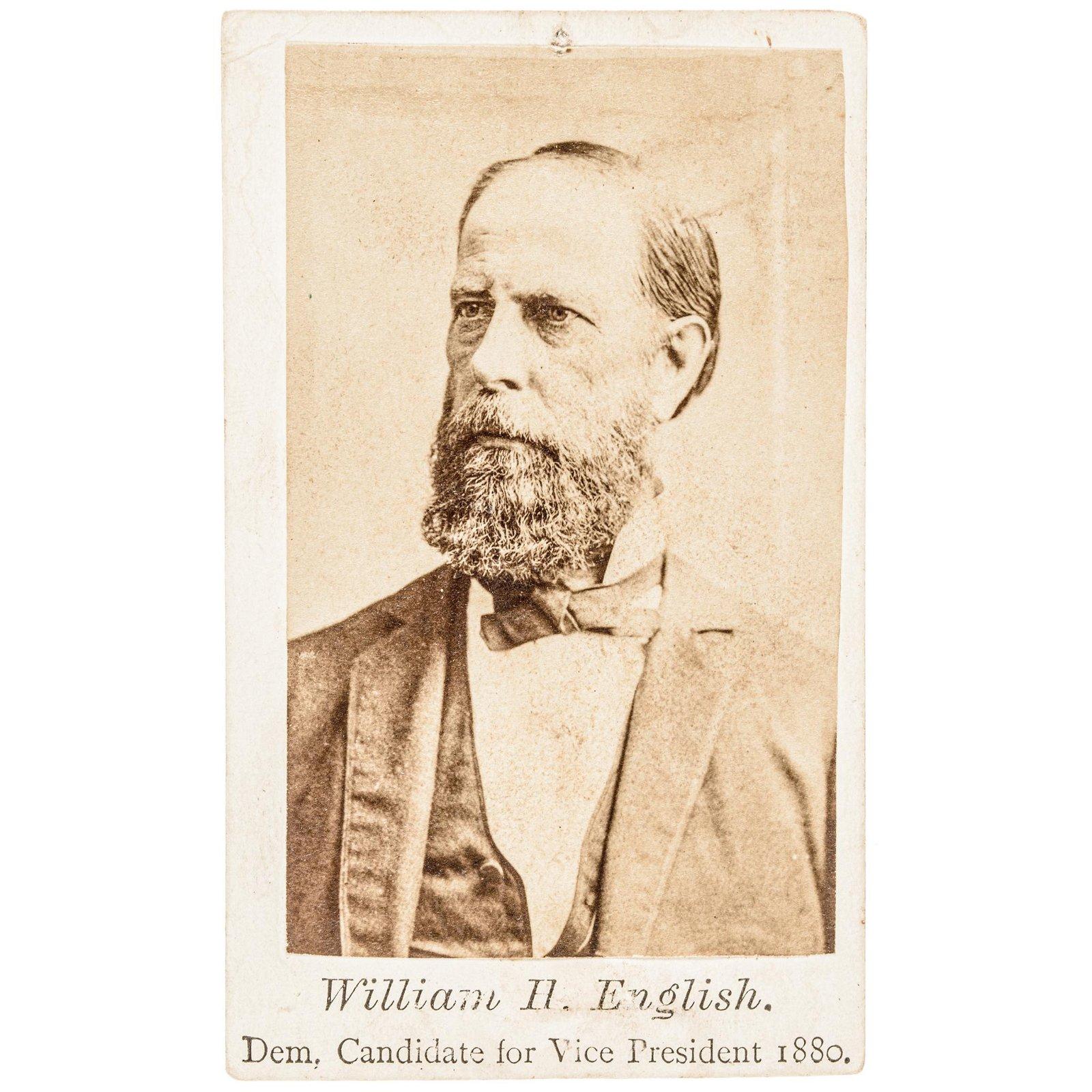 1880 Hancock+English Presidential Campaign CDVs
