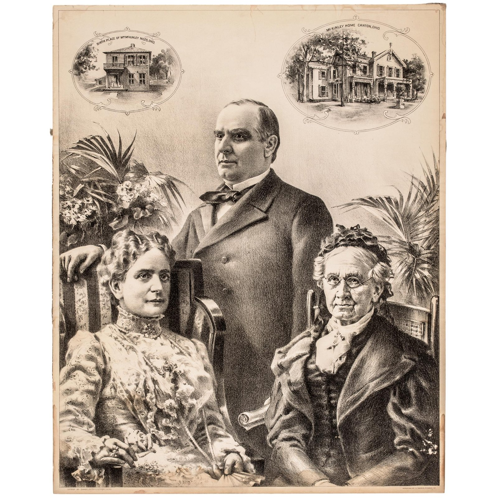 4 Lithos: Presidents Garfield, McKinley + Lincoln