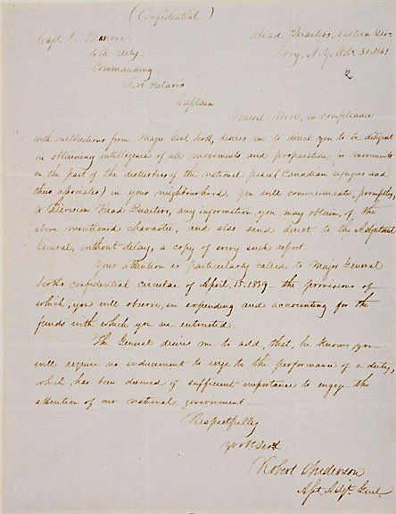 2002: Robert Anderson Signed Letter 1841