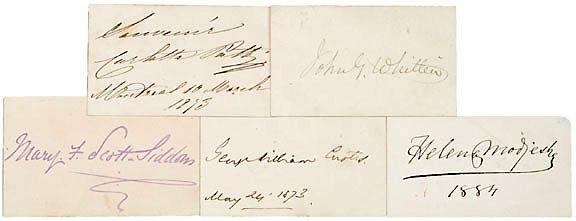 AUTOGRAPH ALBUM: Five 19th Century Authors