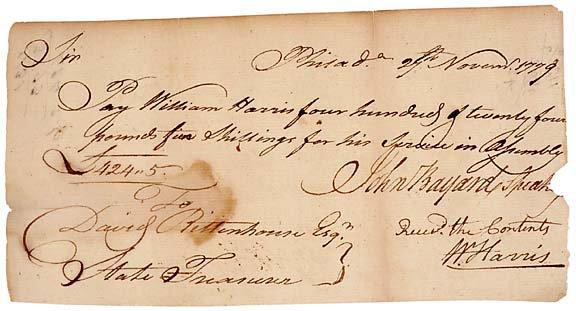 2005: John Bayard Signed Document 1779