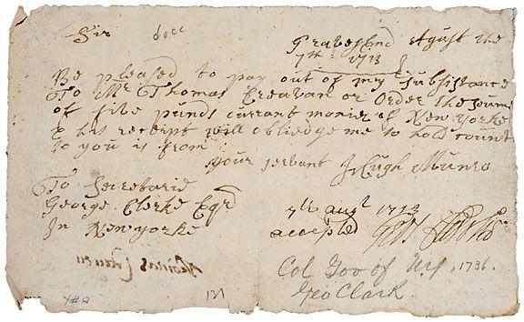 George Clark Signature, 1713