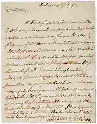 George Clinton Signed Letter 1779