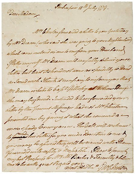 2013: George Clinton Signed Letter 1779