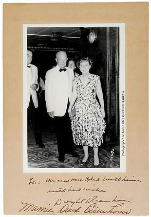 Dwight and Mamie Eisenhower Signed Photo