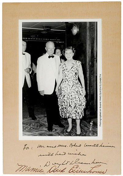 2016: Dwight and Mamie Eisenhower Signed Photo