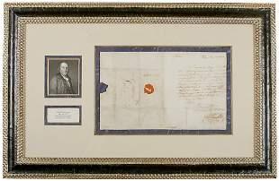 Benjamin Franklin Signed Letter, 1782