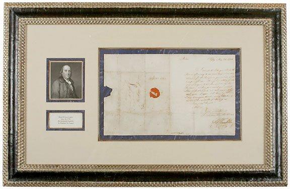 2020: Benjamin Franklin Signed Letter, 1782