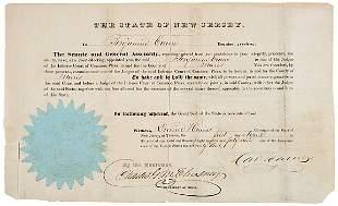 DANIEL HAINES Signed Document 1849