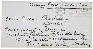 Mary Lord Harrison Signed Envelope