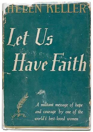 Helen Keller Signed Book, 1940