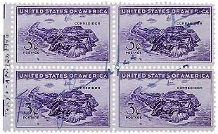 Douglas MacArthur Signed Corregidor Stamps