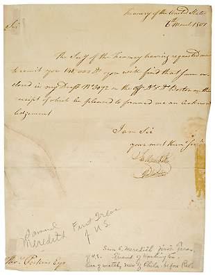 Samuel Meredith Signed Document