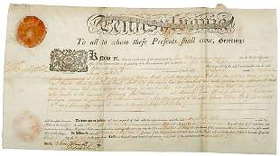 Thomas Mifflin Signed Document 1795