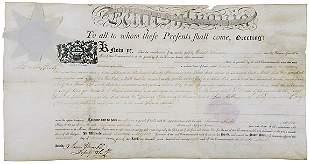 Thomas Mifflin Signed Document 1798